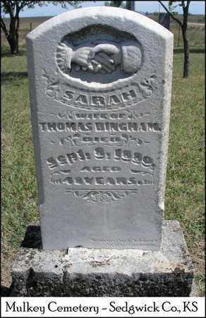 BINGHAM, SARAH - Sedgwick County, Kansas | SARAH BINGHAM - Kansas Gravestone Photos