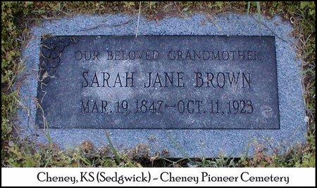 BROWN, SARAH JANE - Sedgwick County, Kansas   SARAH JANE BROWN - Kansas Gravestone Photos