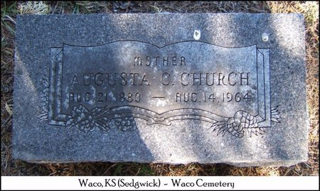CHURCH, AUGUSTA C - Sedgwick County, Kansas | AUGUSTA C CHURCH - Kansas Gravestone Photos