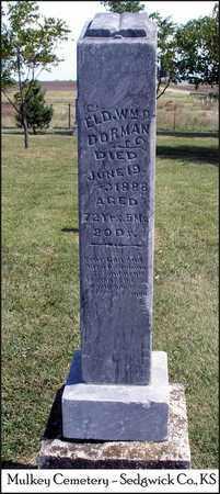 DORMAN, WILLIAM D, ELDER - Sedgwick County, Kansas   WILLIAM D, ELDER DORMAN - Kansas Gravestone Photos