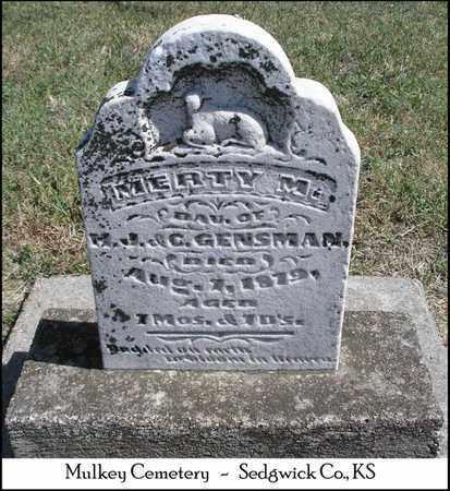 GENSMAN, MERTY M - Sedgwick County, Kansas   MERTY M GENSMAN - Kansas Gravestone Photos
