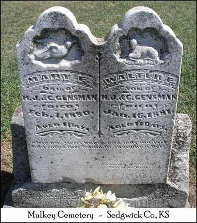 GENSMAN, MARY E - Sedgwick County, Kansas | MARY E GENSMAN - Kansas Gravestone Photos