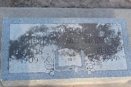 HART, GENEVA M - Sedgwick County, Kansas | GENEVA M HART - Kansas Gravestone Photos