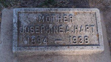 HART, JOSEPHINE A - Sedgwick County, Kansas | JOSEPHINE A HART - Kansas Gravestone Photos
