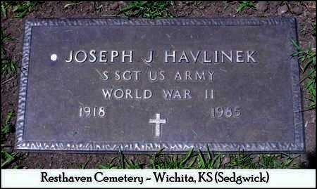 HAVLINEK, JOSEPH J   (VETERAN WWII) - Sedgwick County, Kansas | JOSEPH J   (VETERAN WWII) HAVLINEK - Kansas Gravestone Photos