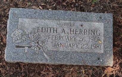 HERRING, EDITH A - Sedgwick County, Kansas | EDITH A HERRING - Kansas Gravestone Photos
