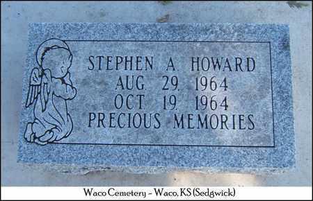 HOWARD, STEPHEN A - Sedgwick County, Kansas | STEPHEN A HOWARD - Kansas Gravestone Photos