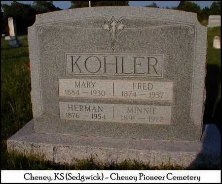 KOHLER, MINNIE - Sedgwick County, Kansas | MINNIE KOHLER - Kansas Gravestone Photos