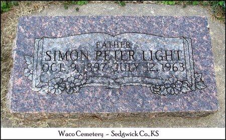 LIGHT, SIMON PETER - Sedgwick County, Kansas   SIMON PETER LIGHT - Kansas Gravestone Photos