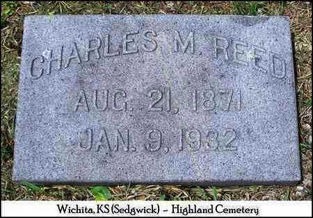 REED, CHARLES M - Sedgwick County, Kansas | CHARLES M REED - Kansas Gravestone Photos