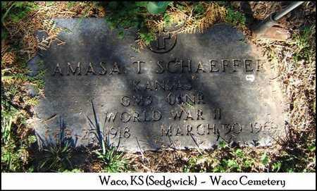 SCHAEFFER, AMASA T (VETERAN WWII) - Sedgwick County, Kansas | AMASA T (VETERAN WWII) SCHAEFFER - Kansas Gravestone Photos