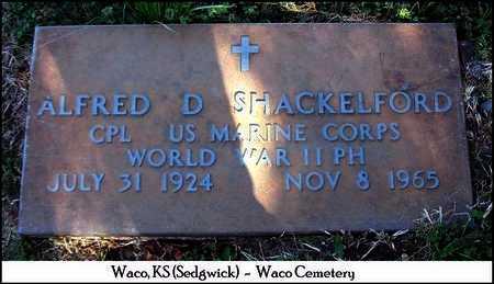 SHACKELFORD, ALFRED D   (VETERAN WWII) - Sedgwick County, Kansas | ALFRED D   (VETERAN WWII) SHACKELFORD - Kansas Gravestone Photos