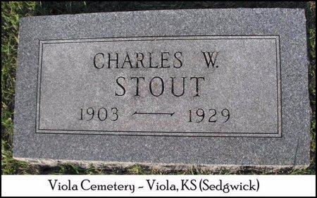 STOUT, CHARLES W - Sedgwick County, Kansas | CHARLES W STOUT - Kansas Gravestone Photos
