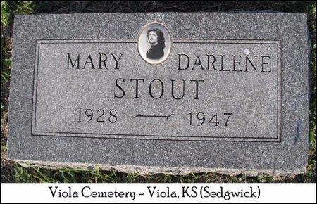 STOUT, MARY DARLENE - Sedgwick County, Kansas | MARY DARLENE STOUT - Kansas Gravestone Photos