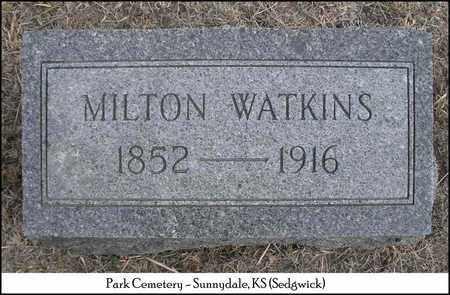 WATKINS, MILTON - Sedgwick County, Kansas | MILTON WATKINS - Kansas Gravestone Photos
