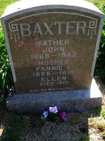 BAXTER, FANNIE A - Shawnee County, Kansas | FANNIE A BAXTER - Kansas Gravestone Photos