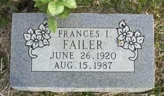 FAILER, FRANCES I - Shawnee County, Kansas | FRANCES I FAILER - Kansas Gravestone Photos