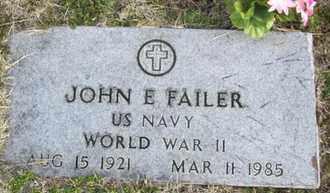 FAILER, JOHN EDWARD  (VETERAN WWII) - Shawnee County, Kansas   JOHN EDWARD  (VETERAN WWII) FAILER - Kansas Gravestone Photos