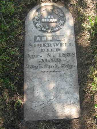 SIMERWELL, ANN J - Shawnee County, Kansas | ANN J SIMERWELL - Kansas Gravestone Photos