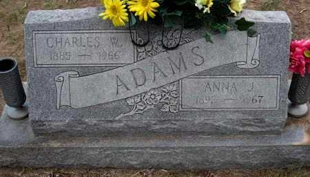 ADAMS, CHARLES W - Sherman County, Kansas | CHARLES W ADAMS - Kansas Gravestone Photos
