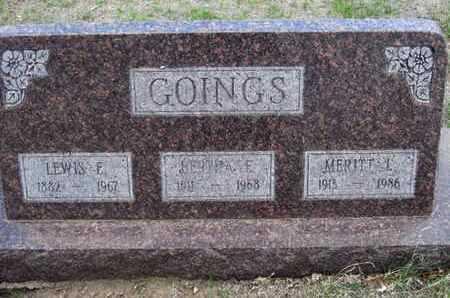 GOINGS, LEWIS E - Sherman County, Kansas | LEWIS E GOINGS - Kansas Gravestone Photos