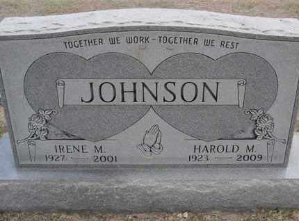 JOHNSON, IRENE M - Sherman County, Kansas | IRENE M JOHNSON - Kansas Gravestone Photos