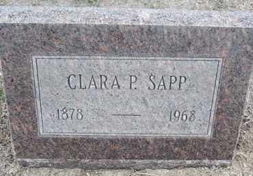 SAPP, CLARA P - Sherman County, Kansas | CLARA P SAPP - Kansas Gravestone Photos