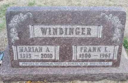 WINBINGER, MARIAN A - Sherman County, Kansas   MARIAN A WINBINGER - Kansas Gravestone Photos