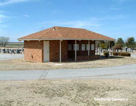 *OFFICE AND OVERVIEW, STAFFORD CEMETERY - Stafford County, Kansas | STAFFORD CEMETERY *OFFICE AND OVERVIEW - Kansas Gravestone Photos