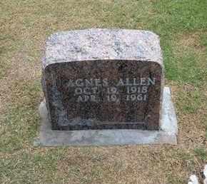 ANDERSON ALLEN, CLARA AGNES - Stevens County, Kansas | CLARA AGNES ANDERSON ALLEN - Kansas Gravestone Photos
