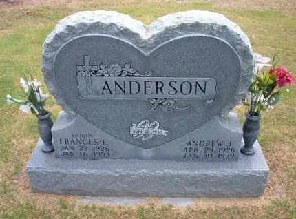 ANDERSON, ANDREW J ( A J) - Stevens County, Kansas | ANDREW J ( A J) ANDERSON - Kansas Gravestone Photos