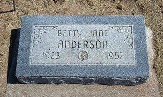 ANDERSON, BETTY JANE - Stevens County, Kansas | BETTY JANE ANDERSON - Kansas Gravestone Photos