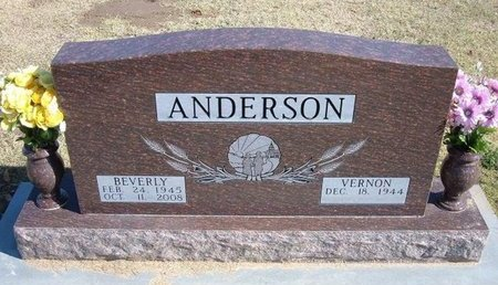 OWENS ANDERSON, BEVERLY ANN - Stevens County, Kansas | BEVERLY ANN OWENS ANDERSON - Kansas Gravestone Photos