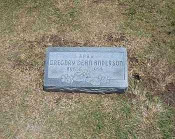 ANDERSON, GREGORY DEAN - Stevens County, Kansas   GREGORY DEAN ANDERSON - Kansas Gravestone Photos