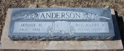 ANDERSON, HARRY WESLEY - Stevens County, Kansas | HARRY WESLEY ANDERSON - Kansas Gravestone Photos