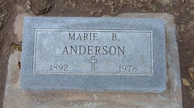 BENDA ANDERSON, MARIE - Stevens County, Kansas | MARIE BENDA ANDERSON - Kansas Gravestone Photos