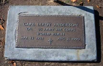 ANDERSON, CARL LEROY  (VETERAN WWII) - Stevens County, Kansas | CARL LEROY  (VETERAN WWII) ANDERSON - Kansas Gravestone Photos