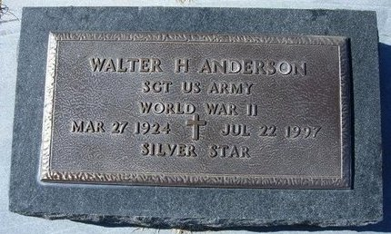 ANDERSON, WALTER H   (VETERAN WWII) - Stevens County, Kansas   WALTER H   (VETERAN WWII) ANDERSON - Kansas Gravestone Photos