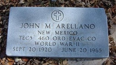 ARELLANO, JOHN M   (VETERAN WWII) - Stevens County, Kansas   JOHN M   (VETERAN WWII) ARELLANO - Kansas Gravestone Photos