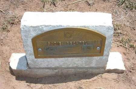 BECHTEL, SADIE - Stevens County, Kansas   SADIE BECHTEL - Kansas Gravestone Photos