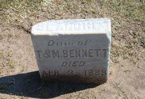 BENNETT, DAUGHTER - Stevens County, Kansas   DAUGHTER BENNETT - Kansas Gravestone Photos