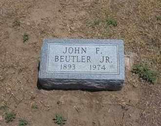 BEUTLER, JOHN F, JR - Stevens County, Kansas | JOHN F, JR BEUTLER - Kansas Gravestone Photos