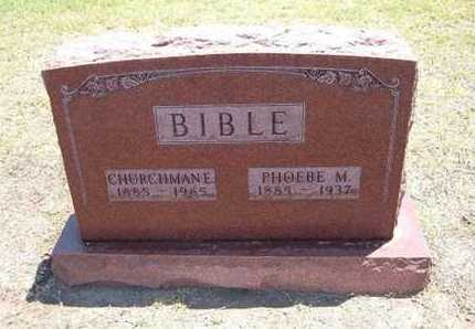 BIBLE, PHOEBE M - Stevens County, Kansas | PHOEBE M BIBLE - Kansas Gravestone Photos