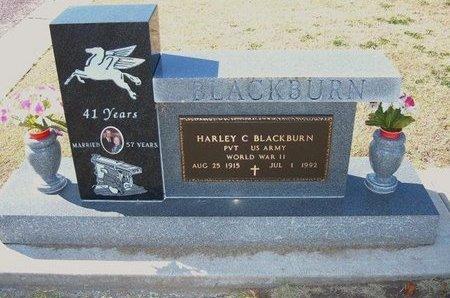BLACKBURN, HARLEY C (VETERAN WWII) - Stevens County, Kansas   HARLEY C (VETERAN WWII) BLACKBURN - Kansas Gravestone Photos