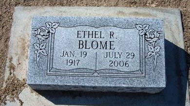 BLOME, ETHEL R - Stevens County, Kansas | ETHEL R BLOME - Kansas Gravestone Photos