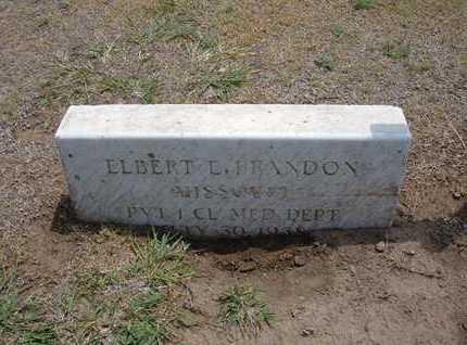 BRANDON, ELBERT E  (VETERAN) - Stevens County, Kansas   ELBERT E  (VETERAN) BRANDON - Kansas Gravestone Photos