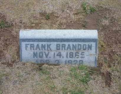 BRANDON, FRANK - Stevens County, Kansas | FRANK BRANDON - Kansas Gravestone Photos