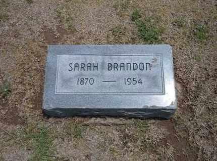 BRANDON, SARAH - Stevens County, Kansas   SARAH BRANDON - Kansas Gravestone Photos