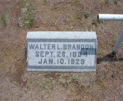 BRANDON, WALTER L - Stevens County, Kansas | WALTER L BRANDON - Kansas Gravestone Photos