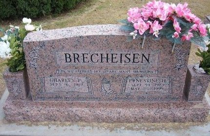 HUNTER BRECHEISEN, ERNESTINE H - Stevens County, Kansas | ERNESTINE H HUNTER BRECHEISEN - Kansas Gravestone Photos